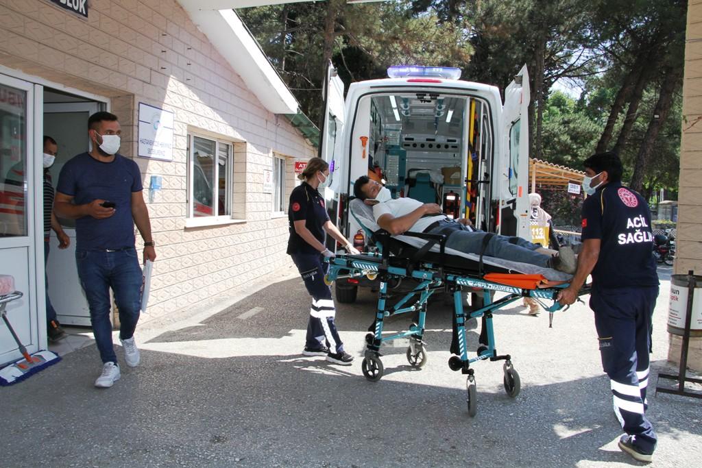 Kula'da motosiklet kazasında 1 kişi yaralandı
