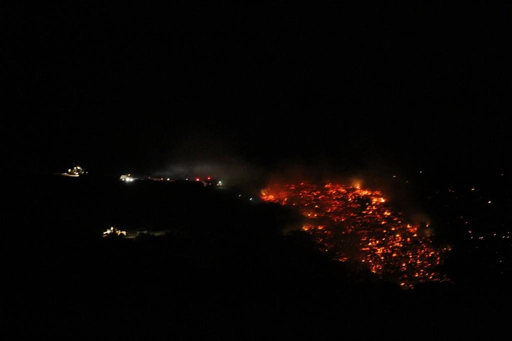 Kula'da çıkan orman yangını kısmen kontrol altına alındı