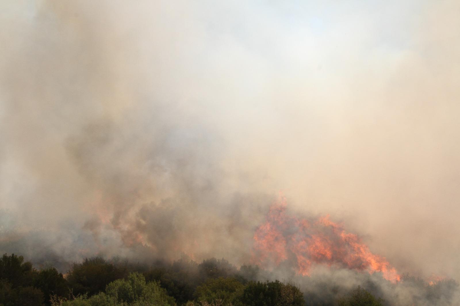 Kula ilçesinde makilik alanda yangın kontrol altına alındı